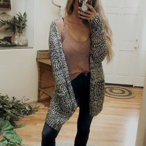 Anthropologie Ruby Moon Chunky Open Front Cardigan